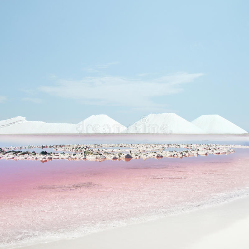różowa woda obraz stock