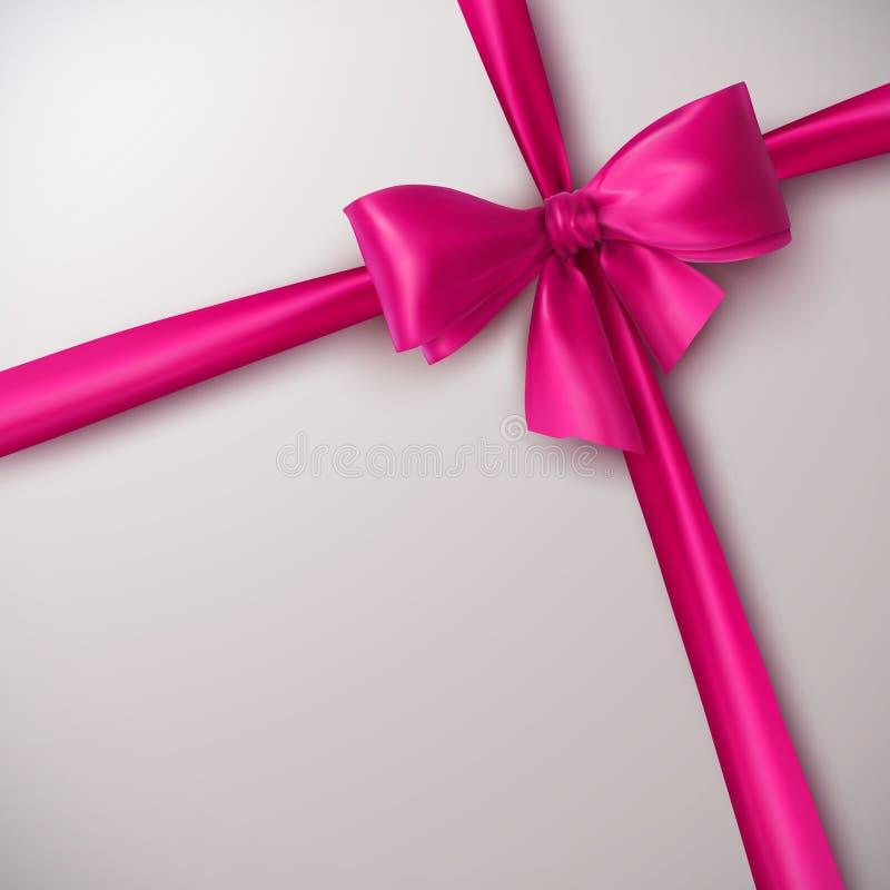 różowa wstążka bow ilustracja wektor