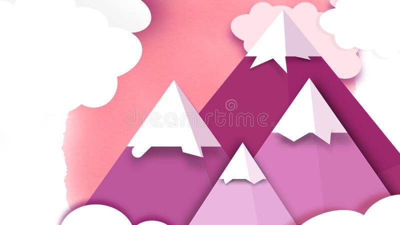 Różowe góry Infographic royalty ilustracja