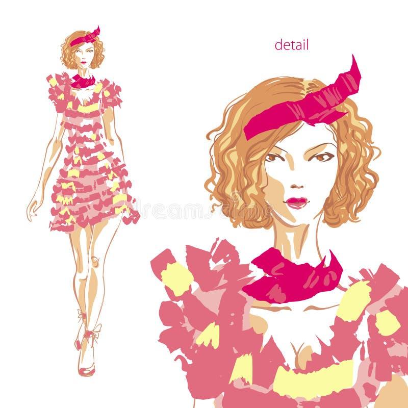 różowe kobiety ilustracja wektor