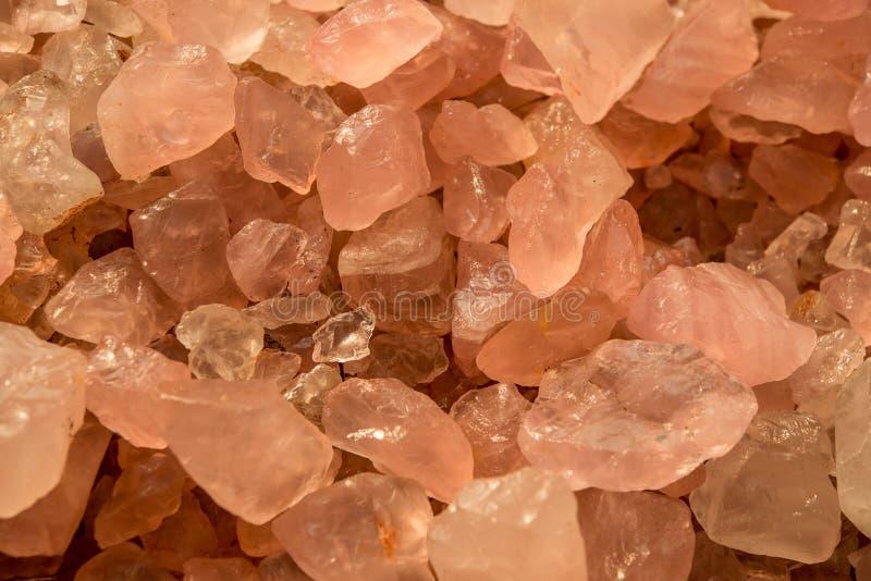 Różowe kwarcowe kopaliny, piękny abstrakcjonistyczny tło zdjęcie royalty free