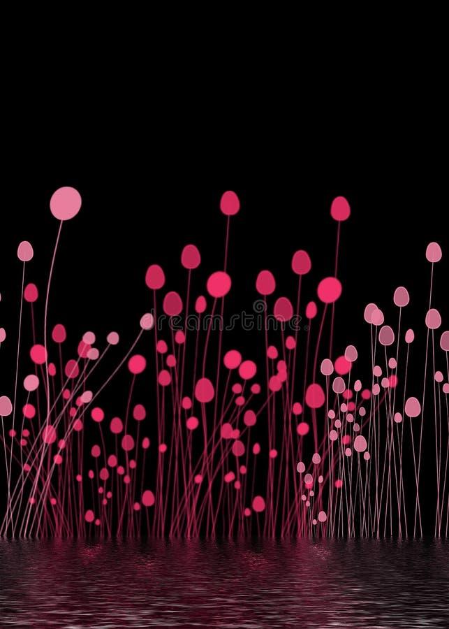 różowe kwiaty tło ilustracja wektor