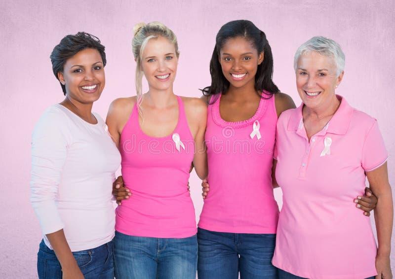 różowe nowotwór piersi świadomości kobiety zdjęcie stock