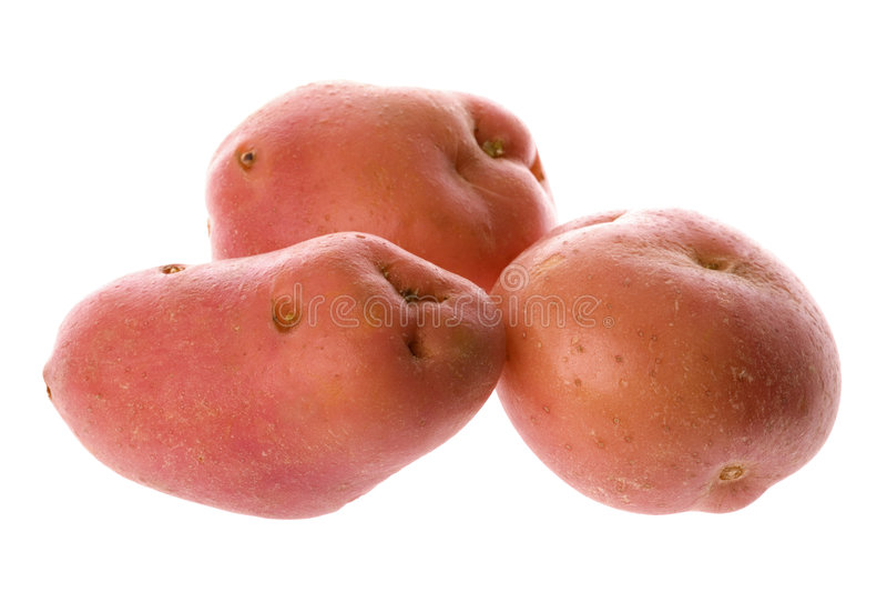 różowe odosobnione ziemniaki zdjęcie stock