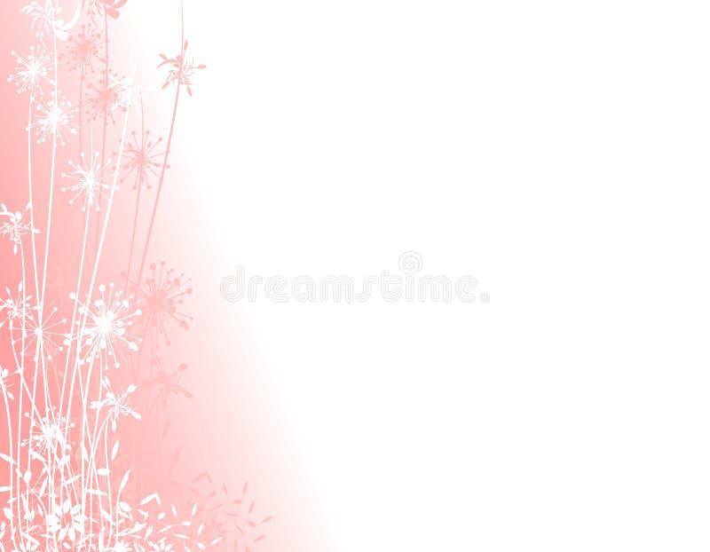 różowe ogrodowych sylwetki zimy. ilustracji