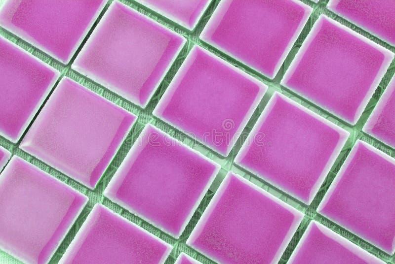 różowe płytki obraz stock