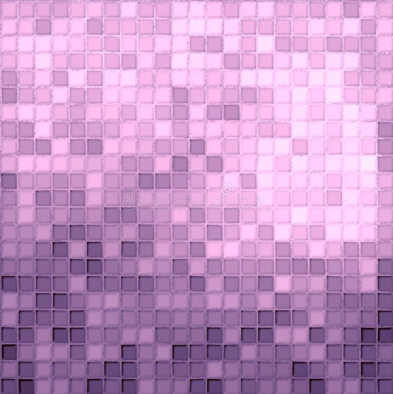 różowe purpurowe płytki ilustracji