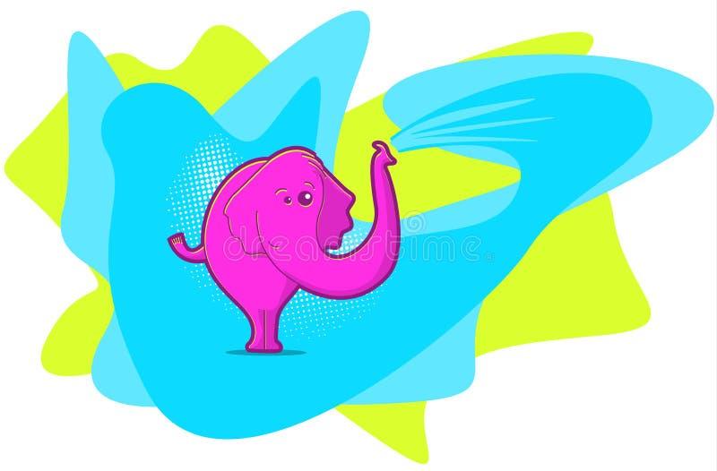 różowe słonie ilustracja wektor