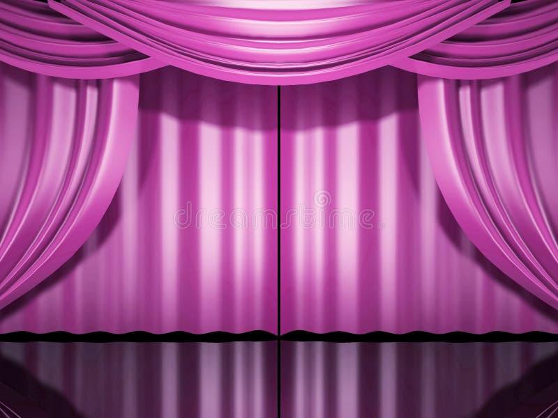 różowe scenę zasłony ilustracja wektor