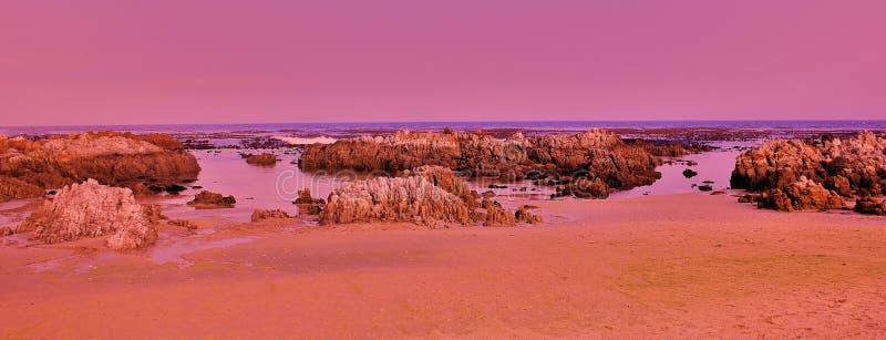 różowe skały obraz royalty free