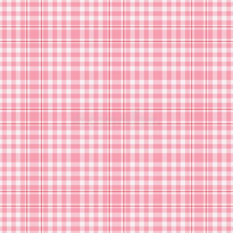 różowe szkockich krat seamles białe royalty ilustracja