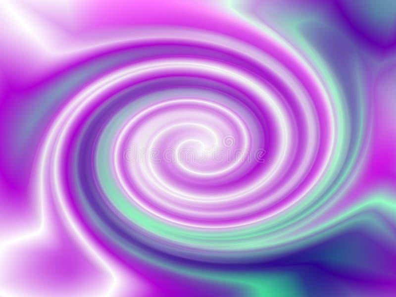Różowego Błękitnego zawijasa Vortex Abstrakcjonistyczny tło royalty ilustracja