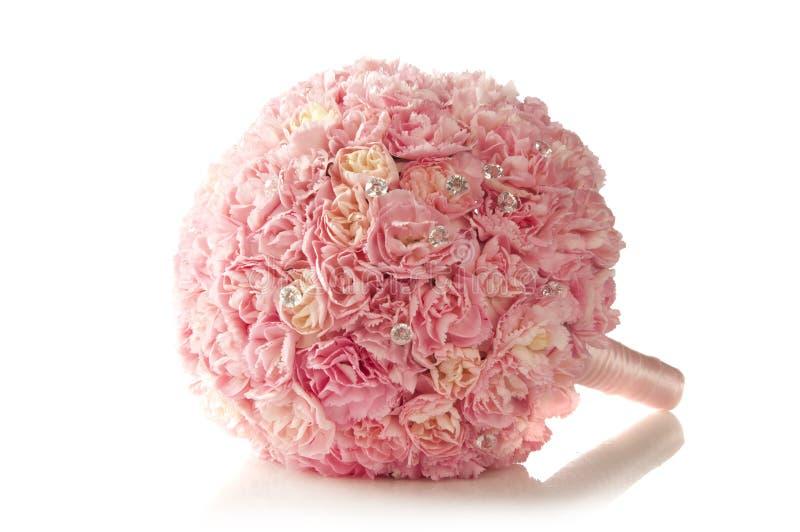 Różowego goździka ślubny bukiet obraz stock
