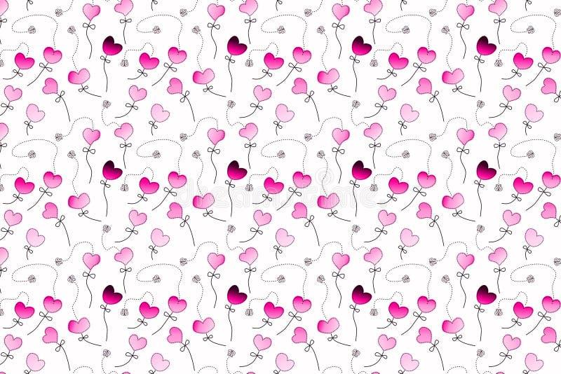 Różowego pasja ogródu Bezszwowy wzór ilustracja wektor