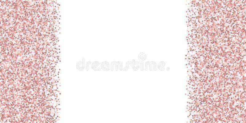 Różowej złocistej błyskotliwości luksusowi iskrzaści confetti Scatt ilustracja wektor