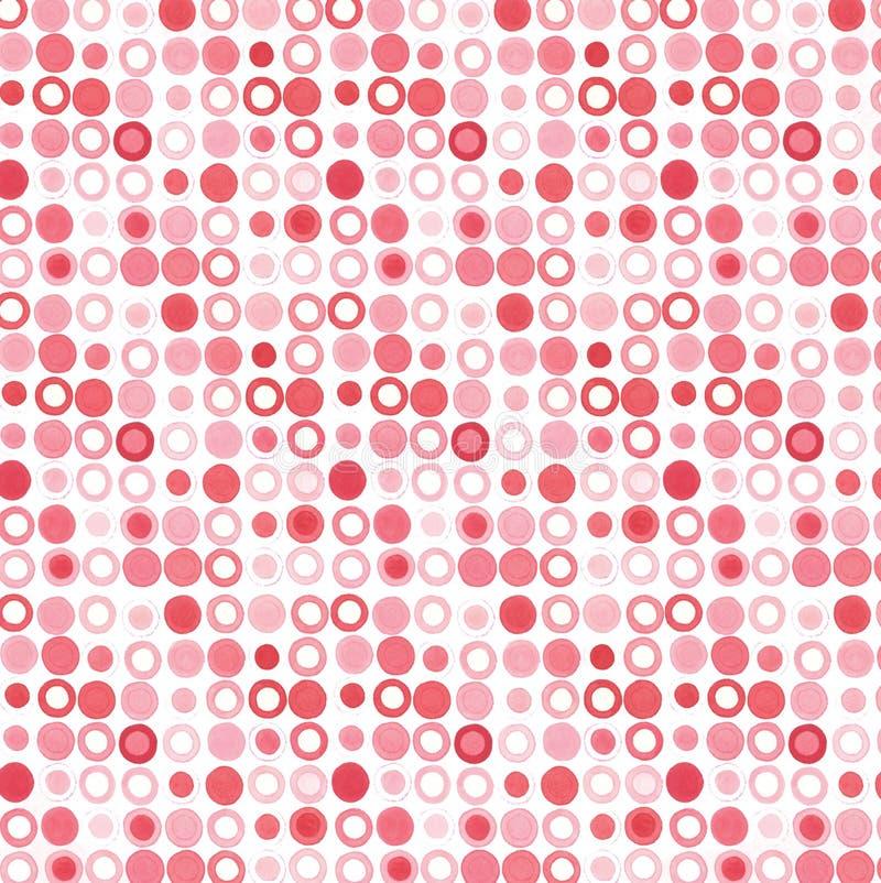 różowią czerwone kropki royalty ilustracja