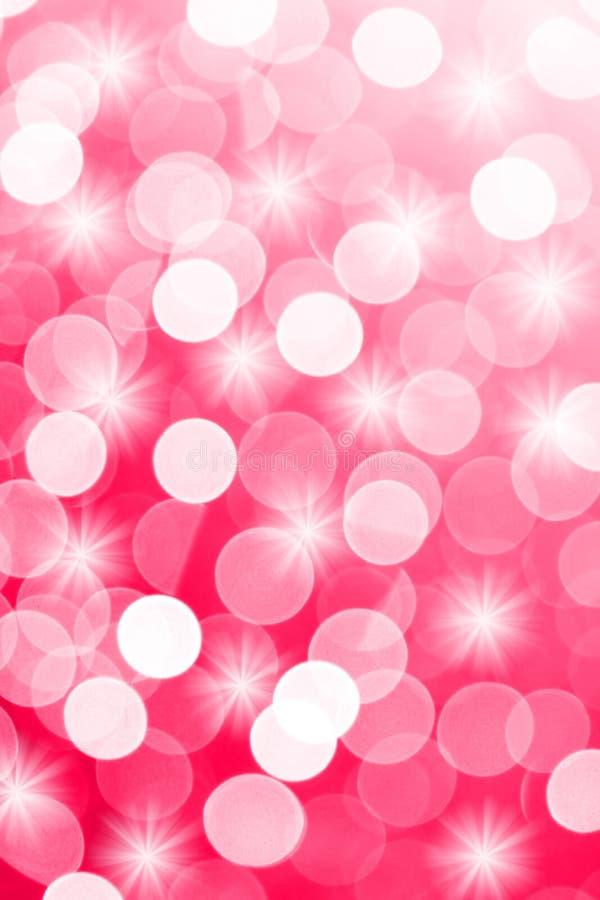 Różowi defocused światła pożytecznie jako tło Dobry dla strony internetowej tekstury lub projektów ilustracji