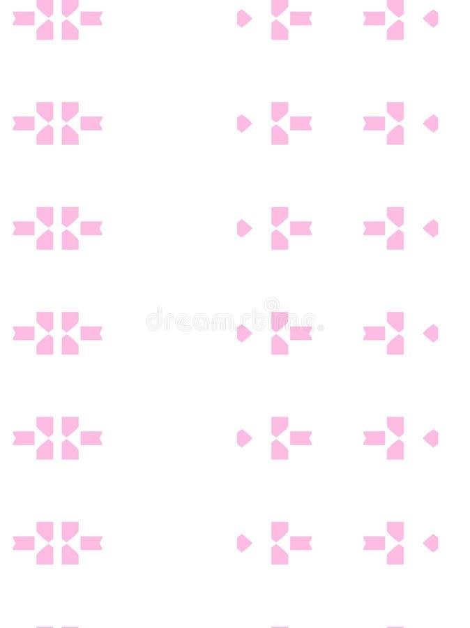 Różowi elementy w wzorze zdjęcie stock