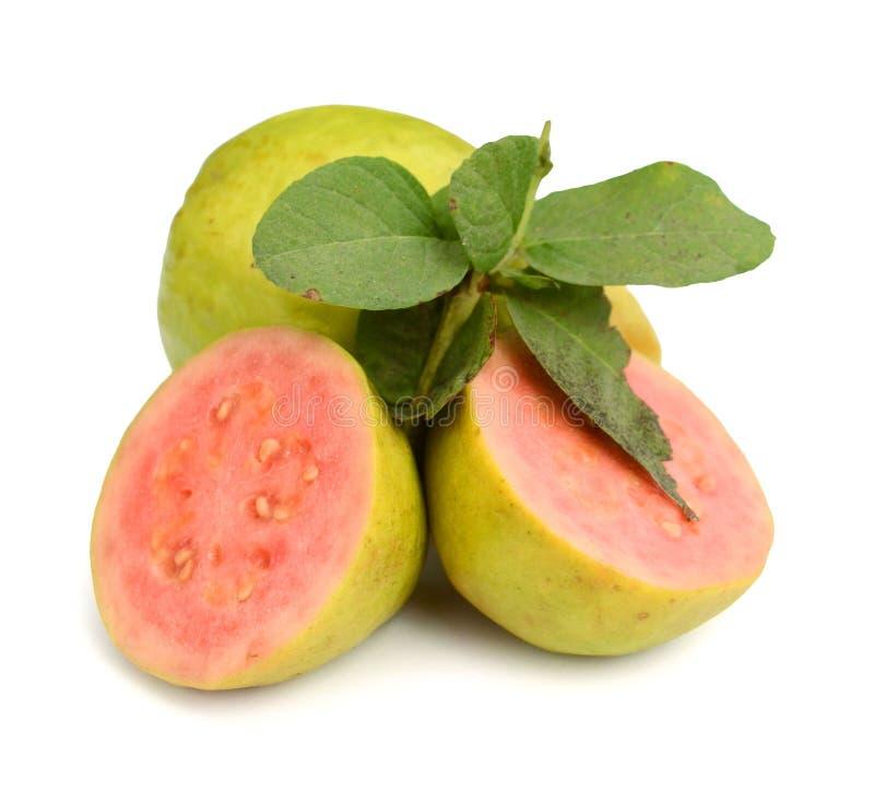 różowi guava plasterki zdjęcia stock