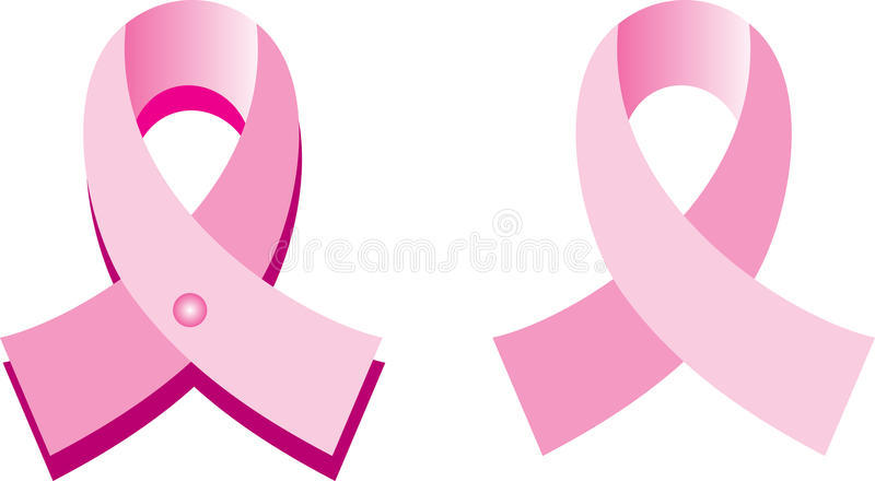 różowi nowotworów faborki ilustracji