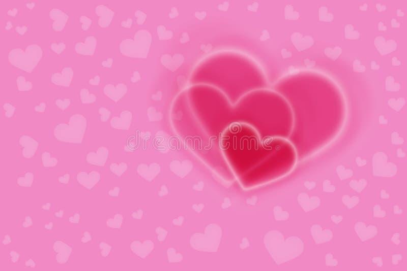 Różowi serca zdjęcia stock