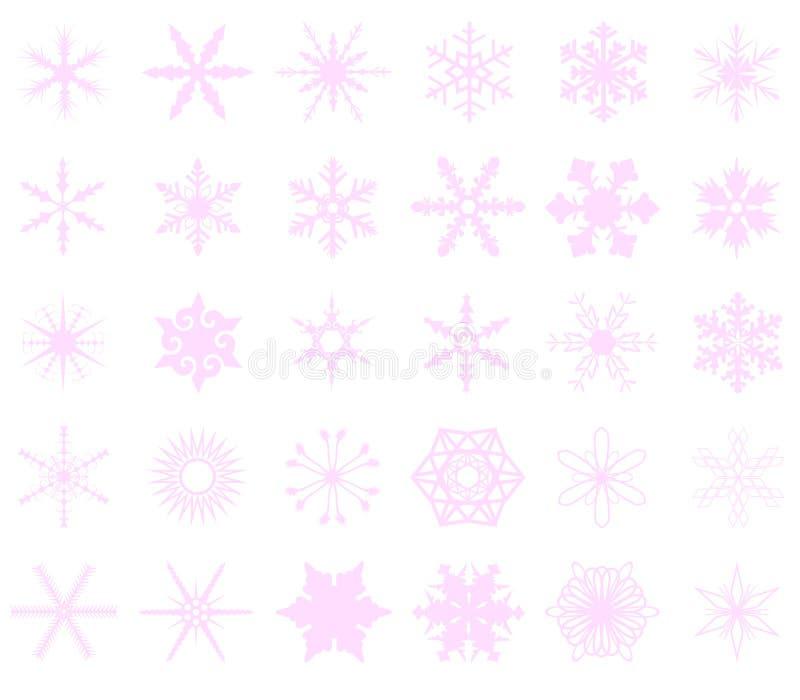 różowi tło płatek śniegu royalty ilustracja