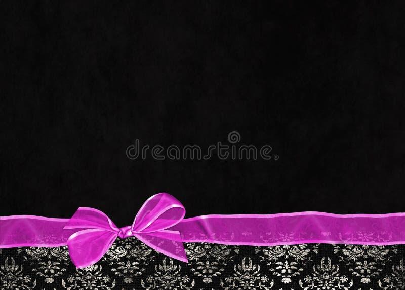 Różowy łęk na adamaszek granicie zdjęcia stock