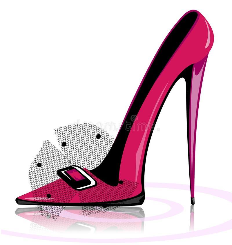różowy but ilustracji