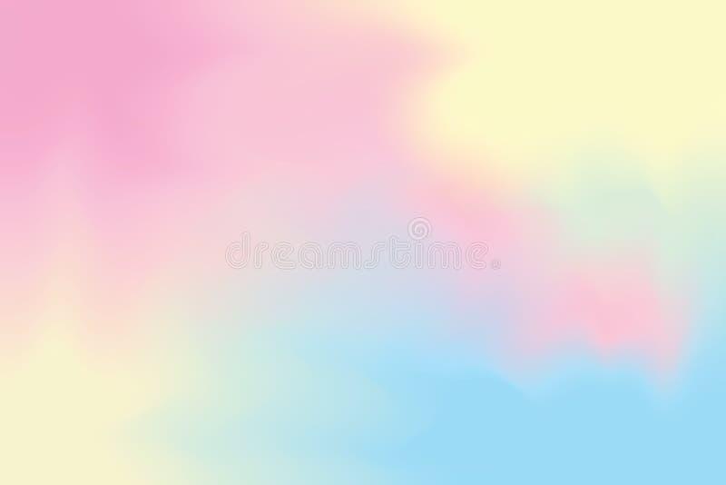 Różowy abstrakcjonistyczny kolorowy jaskrawy kolor farby muśnięcia sztuki tło, wielo- kolorowej obraz sztuki wodnego koloru tapet ilustracja wektor