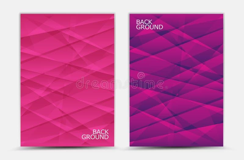 Różowy abstrakcjonistyczny tło wektor, okładkowy szablon, biznesowa ulotka, sieci tekstura, graficzny projekt ilustracji