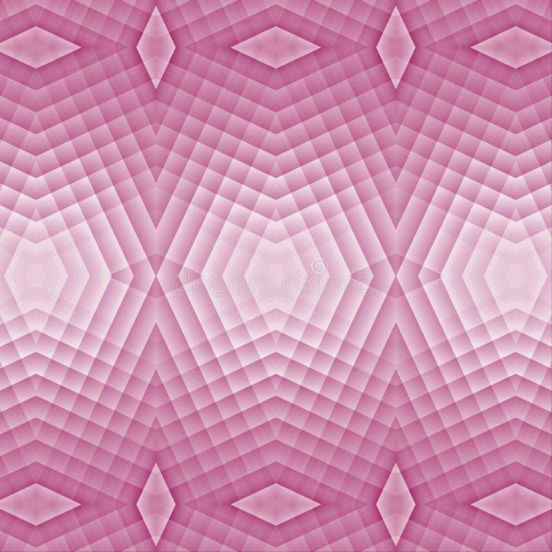 różowy abstrakcyjnych tło Jaskrawy wzór od kwadrata, kształty, lampasy ilustracji