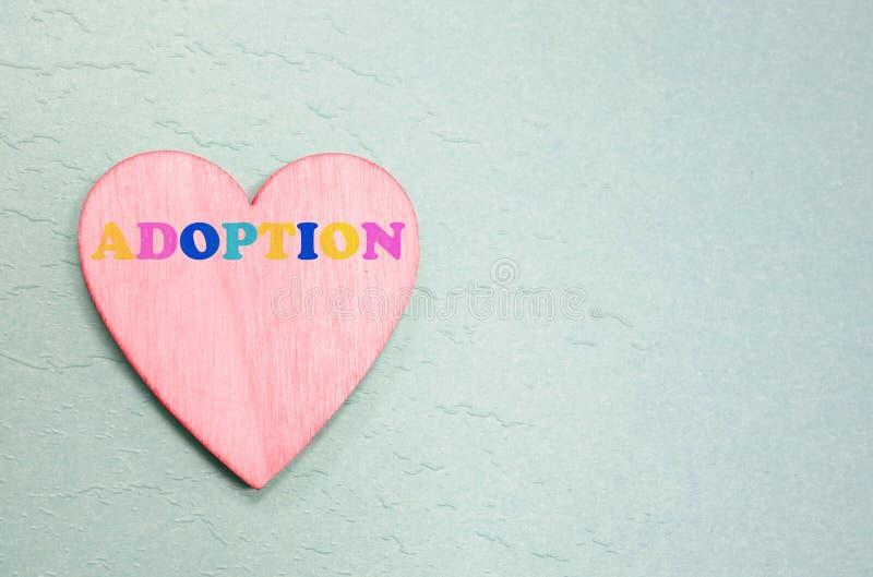 Różowy adopci serce zdjęcie stock