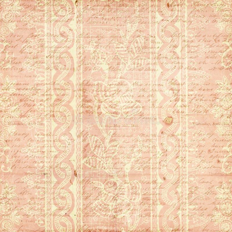 Różowy Antykwarski Rocznika Kwiatu tło zdjęcia royalty free