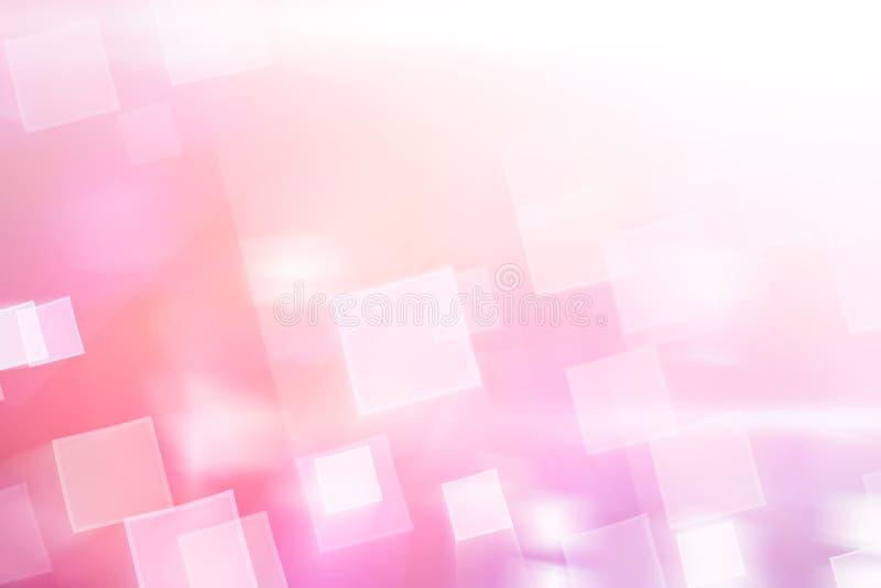 Różowy błyszczący kwadrat zaświeca abstrakcjonistycznego tło ilustracji