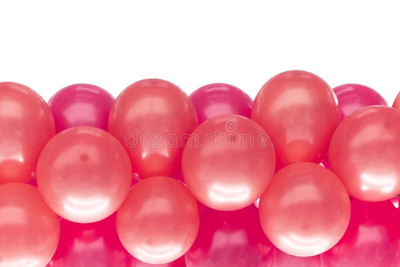 Różowy balon dla partyjnej dekoraci odizolowywającej obraz royalty free