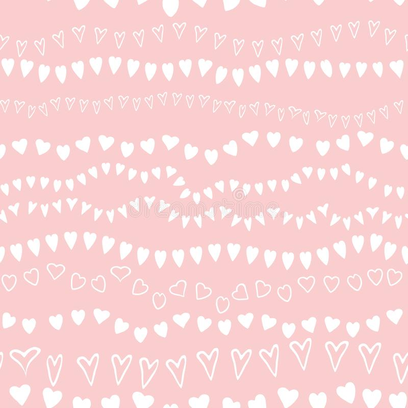 Różowy bezszwowy deseniowy kierowy geometryczny różowy ornamentacyjny tła dziecka prysznic dziewczyny słodki tło ilustracja wektor