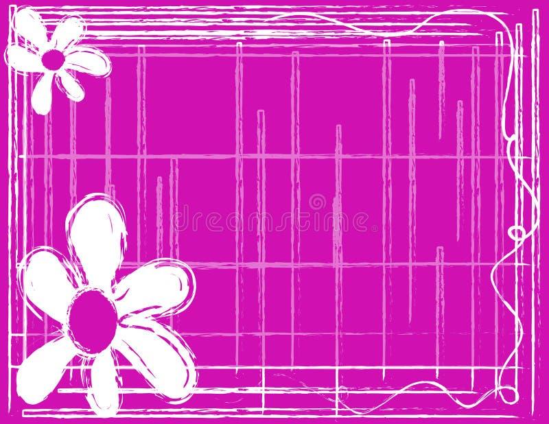 różowy białe tło royalty ilustracja