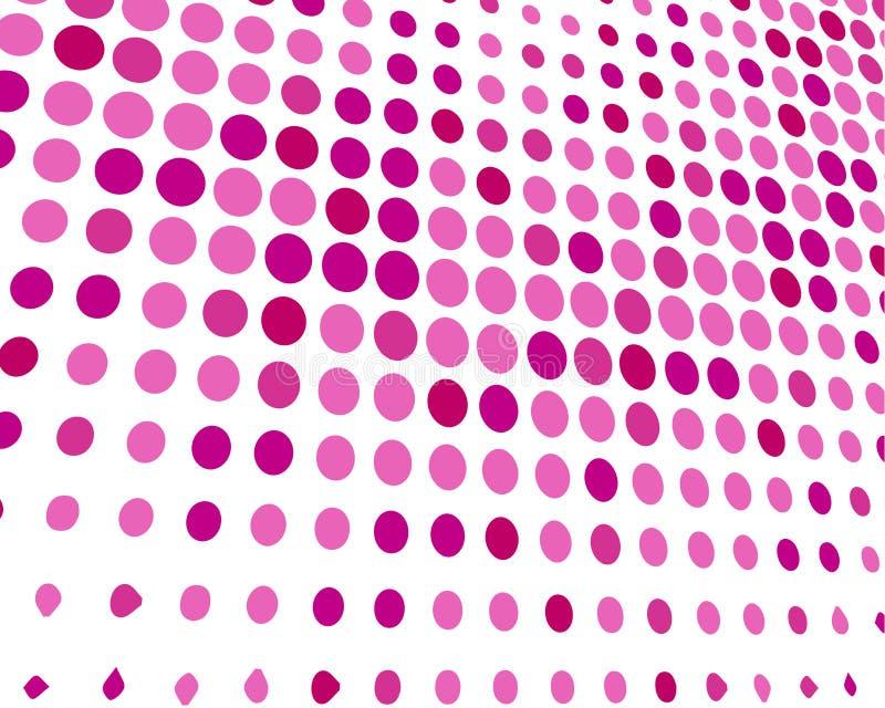 Różowy Biały Przypadkowy kropki tło, Kreatywnie projektów szablony ilustracja wektor