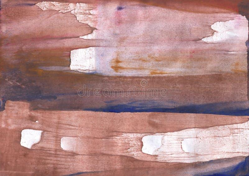 Różowy brown pociągany ręcznie akwarela obrazek obrazy royalty free