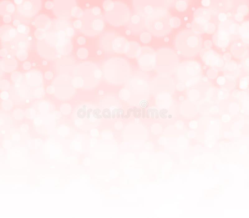 Różowy brzoskwiniowy i biały bokeh abstrakta tło fotografia royalty free