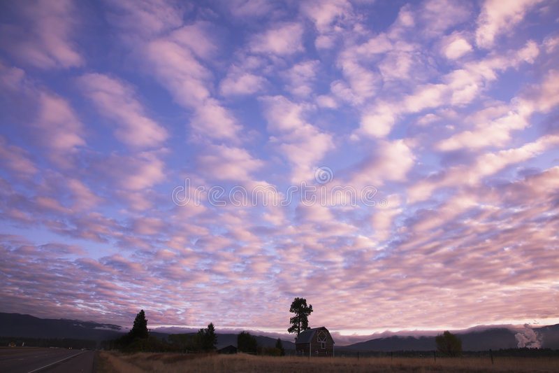 różowy chmur obrazy stock
