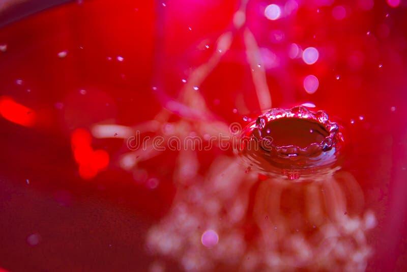 Różowy ciecz, abstrakcjonistyczny delikatny i fotografia royalty free