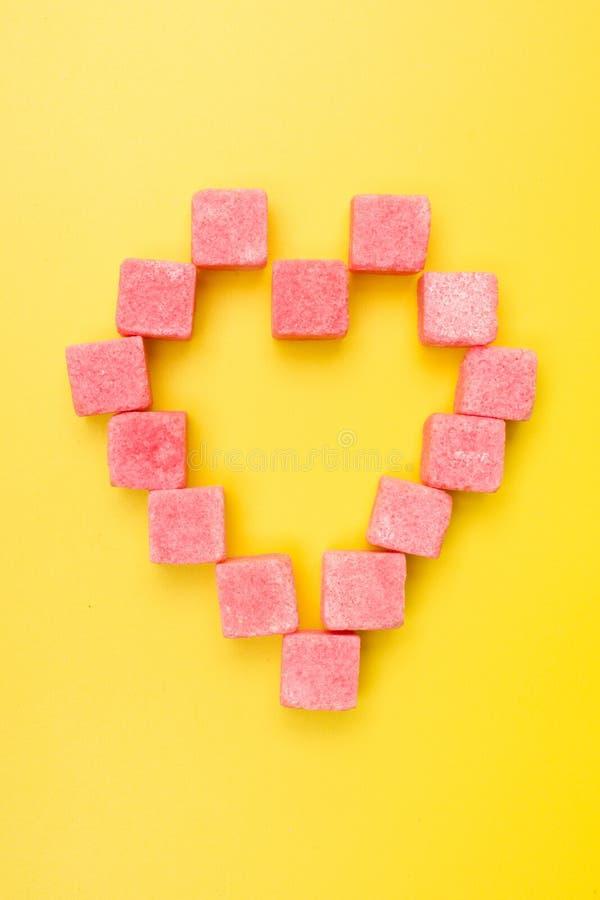 różowy cukier zdjęcia stock