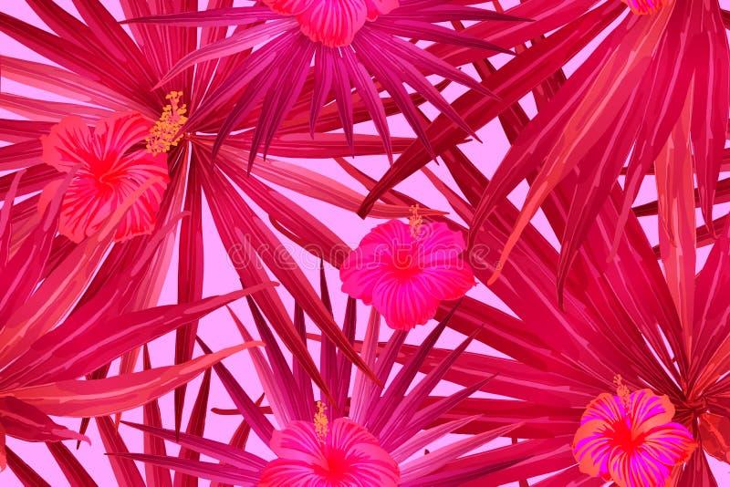 Różowy Czerwony egzota wzór ilustracji