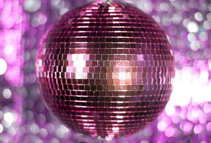 Różowy discoball fotografia stock