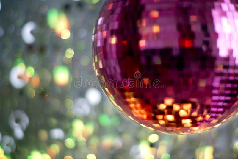 Różowy discoball obrazy royalty free