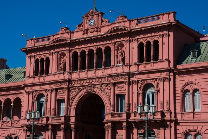Różowy Domowy Casa Rosada także znać jako rzędu dom Casa De Gobierno obraz stock