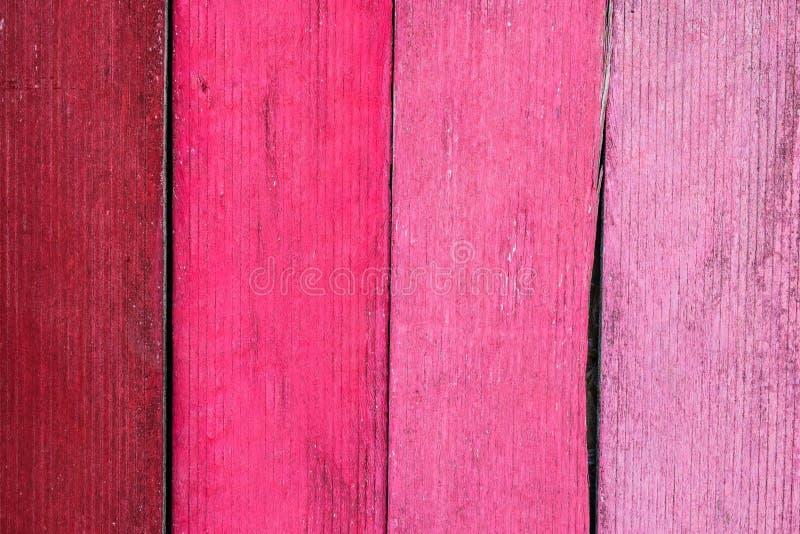 Różowy drewniany tło stare deski obrazy stock