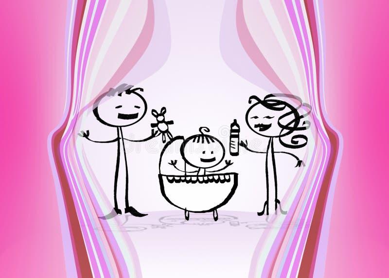 różowy dziecka ilustracji