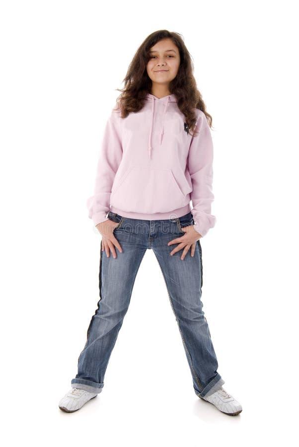 różowy dziewczyna nastolatek zdjęcie stock
